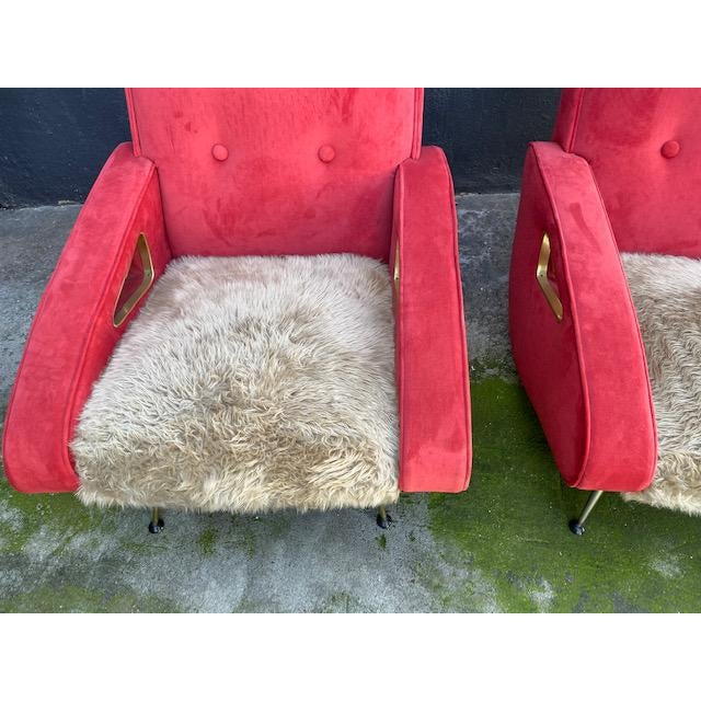 Pair of Exuberant Maurice Mourra Mid-Century Chairs For Sale In Los Angeles - Image 6 of 8