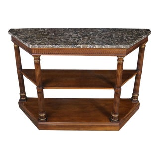 Heritage Furniture Neoclassic Palladian Style Console Table
