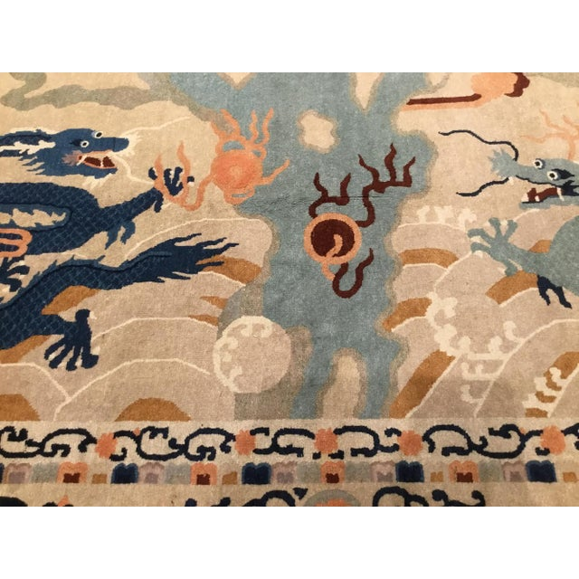 Asian 1920s Chinese Peking Rug Dragon Rug-5′2″ × 8′8″ For Sale - Image 3 of 6