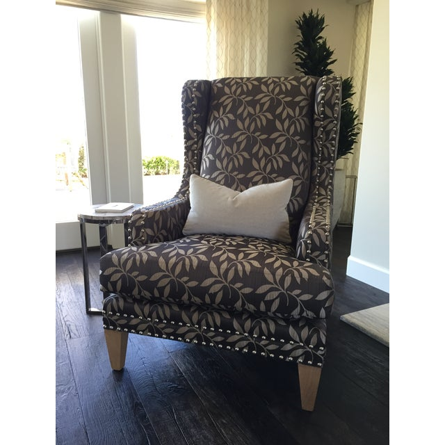 Contemporary Custom Gray Club Chairs - A Pair - Image 6 of 6