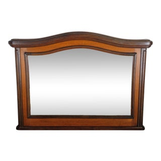 1930s French Art Deco Rustic Walnut Wall Mirror For Sale