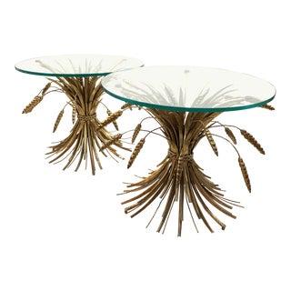 1960s Italian Venetian Gilt Sheaf of Wheat Tables - a Pair For Sale