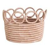 Image of Indego Africa Handwoven Ikamba Basket Mauve For Sale