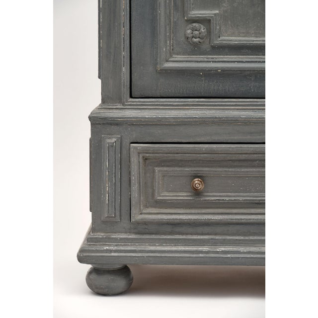 Gray Louis XIV Style Gray Painted Bonnetiere For Sale - Image 8 of 11