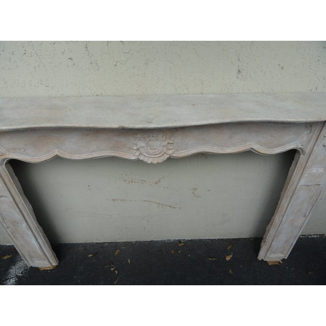 French 19th Century French Carved Wood Mantel For Sale - Image 3 of 10