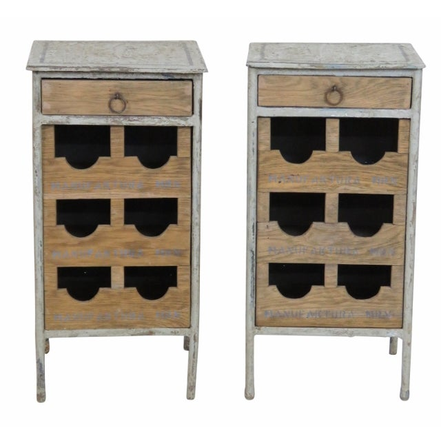 Industrial Metal & Oak Wine Chests - A Pair - Image 1 of 7