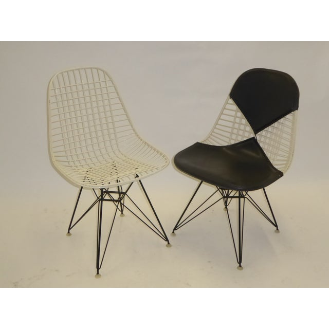 1950s Eames for Herman Miller DKR Bikini Chairs With Eiffel Base - a Pair For Sale In Miami - Image 6 of 13