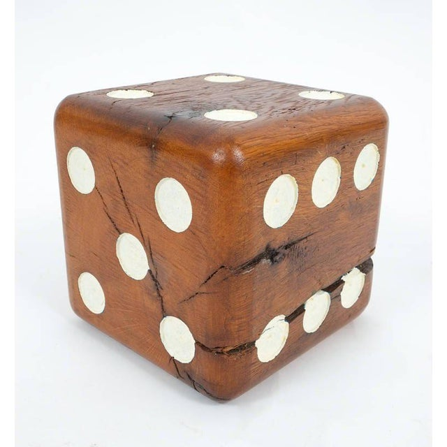 Large Solid Wooden Dice, circa 1950 For Sale - Image 4 of 6