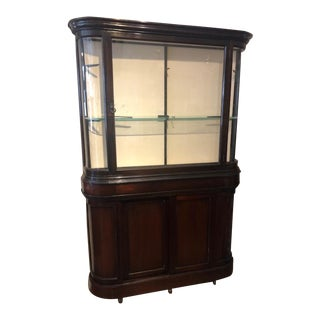 Mahogany Bow End Dentist Cupboard For Sale