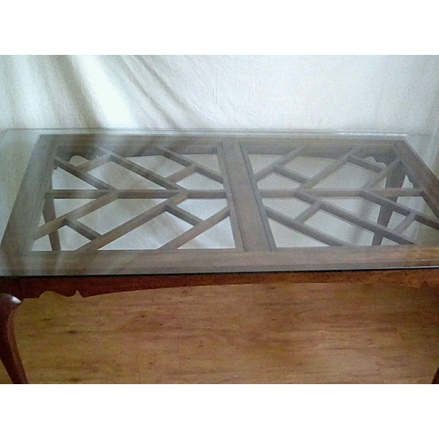 Glass 20th Century French Country Dining Table For Sale - Image 7 of 11