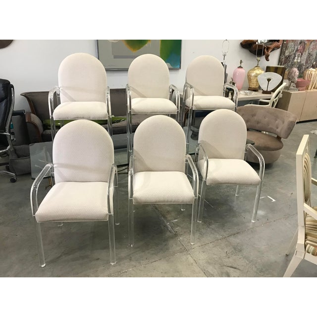 1970s Vintage Lucite Dining Chairs- Set of 6 For Sale - Image 10 of 10