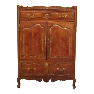 French Provincial Style Cherry Gentlemen's Chest For Sale