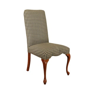 George III Style Solid Cherry Frame Upholstered Back Side Chair For Sale