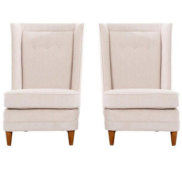 Paul Laszlo High-Back Lounge Chairs For Sale - Image 12 of 12