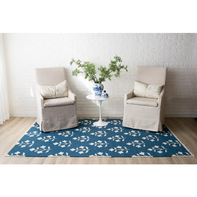 """2010s Erin Gates Thompson Grove Navy Hand Woven Wool Area Rug 5' X 7'6"""" For Sale - Image 5 of 7"""