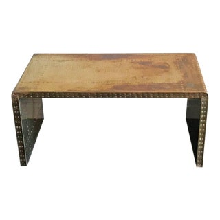 Sarreid Ltd Brass Clad Coffee Table