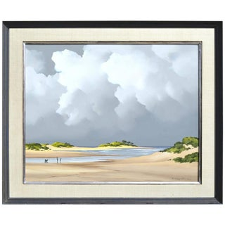 """Alexandre Houllier """"The River to the Sea, Arcachon Bay"""" Painting"""