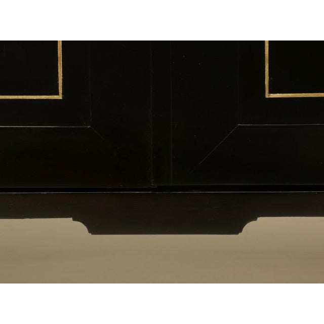 French Louis XVI Ebonized Buffets with Marble Tops - a Pair For Sale - Image 3 of 13