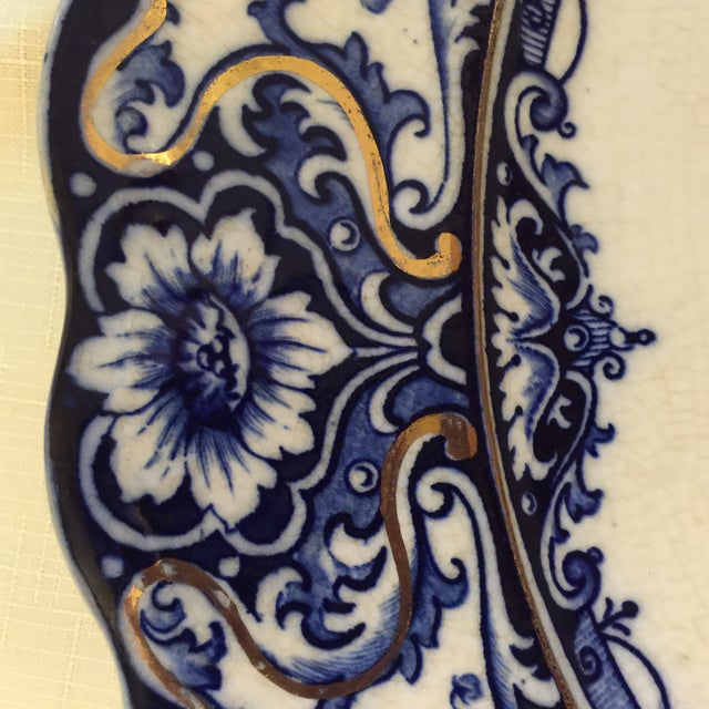 Ironstone Blue & White Platter - Image 3 of 4