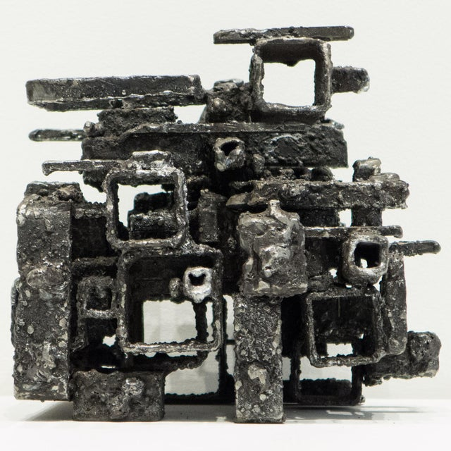 """""""Dwelling Box"""" in steel with an ash metallic gel coat. A 2015 work from his Cathedral series by Des Moines, Iowa artist..."""