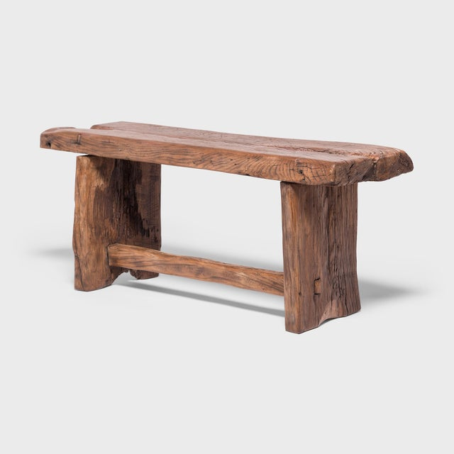 Asian Provincial Chinese Reclaimed Elm Bench For Sale - Image 3 of 7