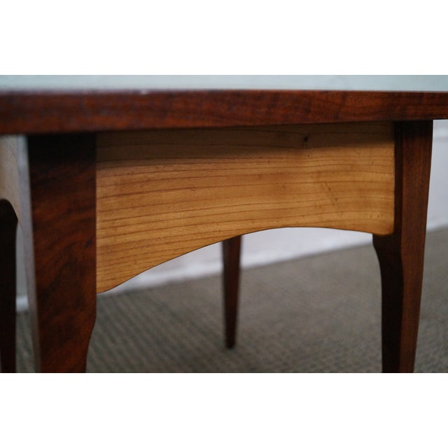 Hand-Crafted Solid Walnut Side Table - Image 6 of 10