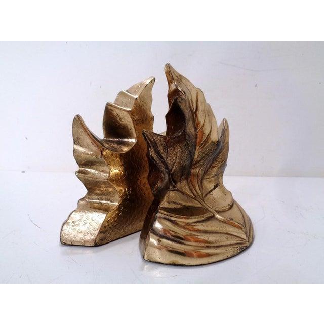 Vintage Gold Maple Leaf Bookends ~ a Pair For Sale In Nashville - Image 6 of 8