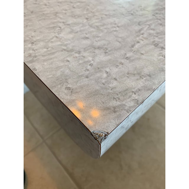 Vintage Karl Springer Cantilevered Coffee Table For Sale - Image 10 of 12