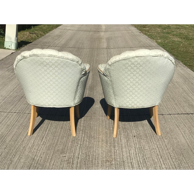 1920's Vintage Art Deco Shell Back Boudoir Chairs- A Pair For Sale In Dallas - Image 6 of 9