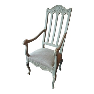 Painted Louis Phillipe French Arm Chair, C. 1900