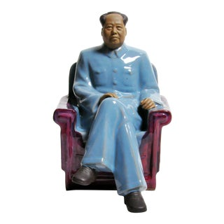Ceramic Sculpture of Chairman Mao Zedong For Sale