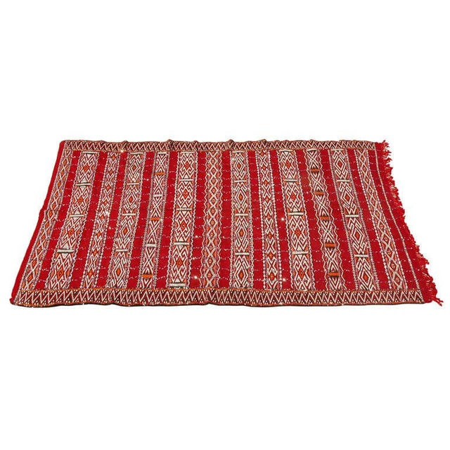 Moroccan Tribal Wedding Rug With Sequins North Africa For Sale - Image 9 of 9