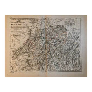 18th Century Antique Map of Switzerland For Sale