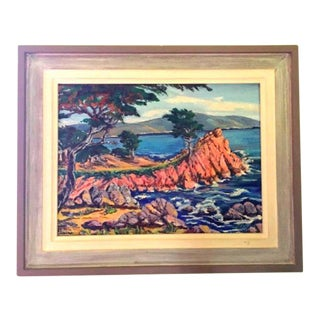 Cypress Point Painting, Mid Century Art, Carmel by the Sea For Sale