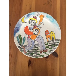 DeSimone Mid-Century Italian Vintage Pottery Charger Plate Preview