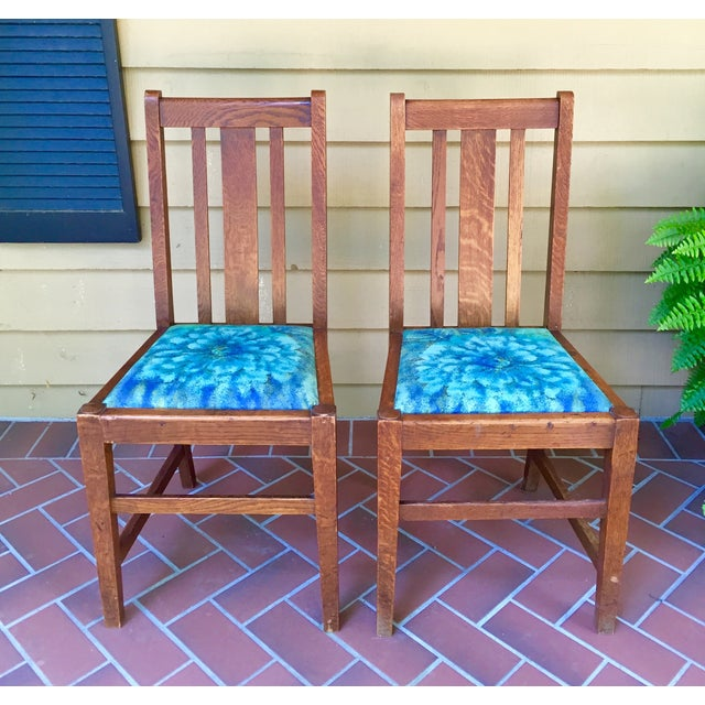 Mission Dining Chairs - A Pair - Image 2 of 10