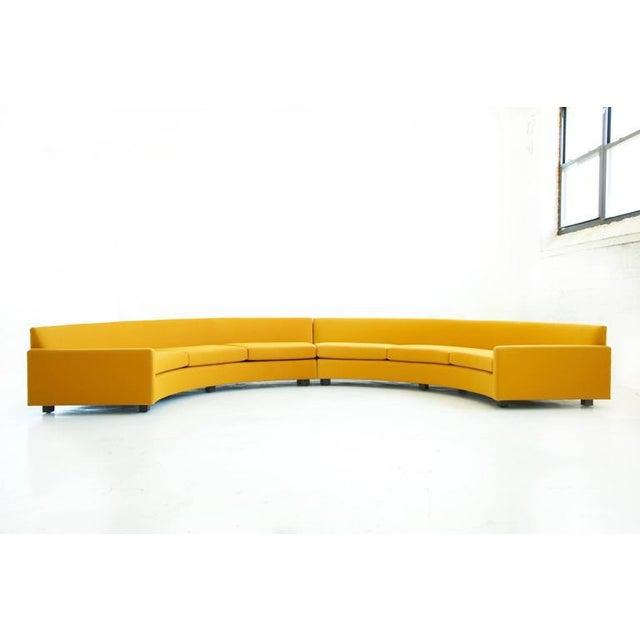 Mid-Century Modern Milo Baughman Semi-Circle Sectional Sofa For Sale - Image 3 of 10