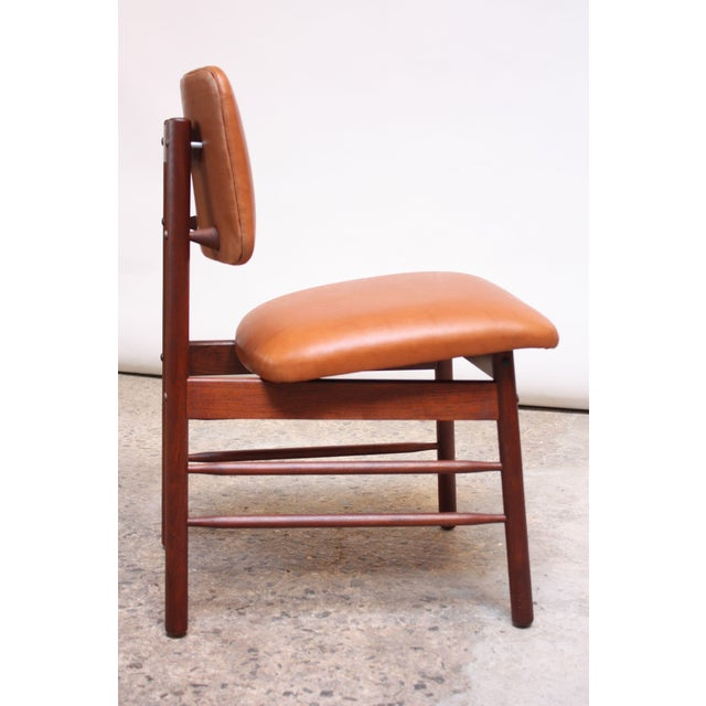 Set of Ten Walnut and Leather Dining Chairs by Greta Grossman For Sale In New York - Image 6 of 13