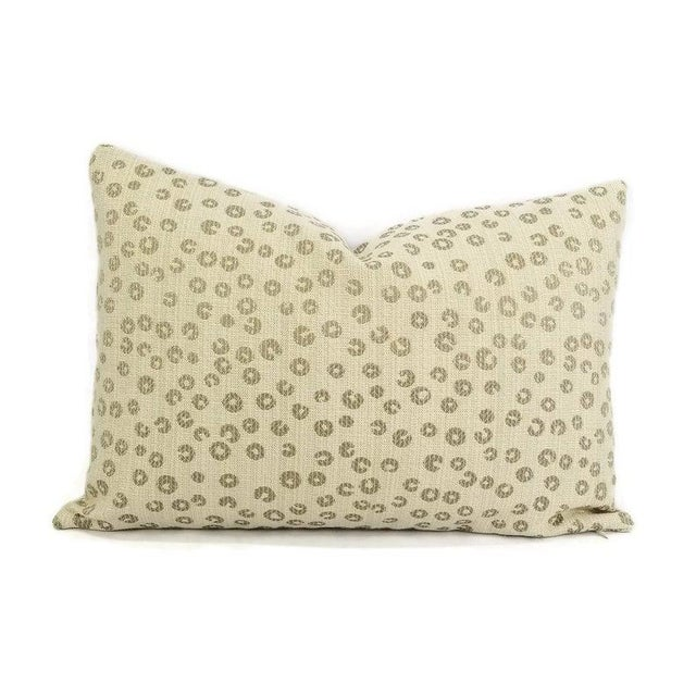 """2010s Lee Industries Nickels in the Color Taupe Lumbar Pillow Cover - 13.5"""" X 20"""" For Sale - Image 5 of 5"""