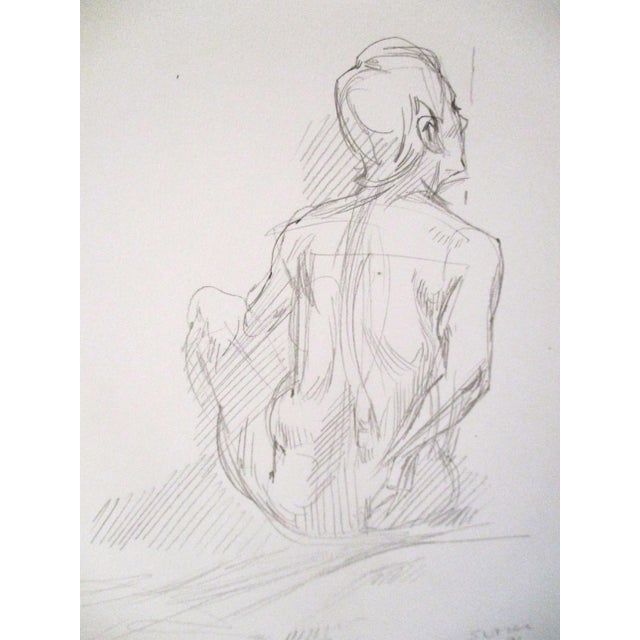 1998 original figurative artist sketches from California artist Miriam Slater of a woman in various poses. Sketches done...