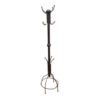 Standing Brass Hat/Coat Rack For Sale