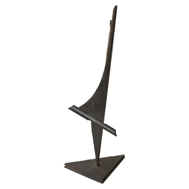 1980s Industrialist Iron and Copper Sculpture Signed Bob Lober For Sale - Image 11 of 11