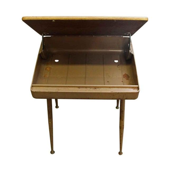 Mid-Century Modern School Desk - Image 2 of 7