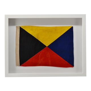 "Framed Real Signal Flag ""Z"" For Sale"