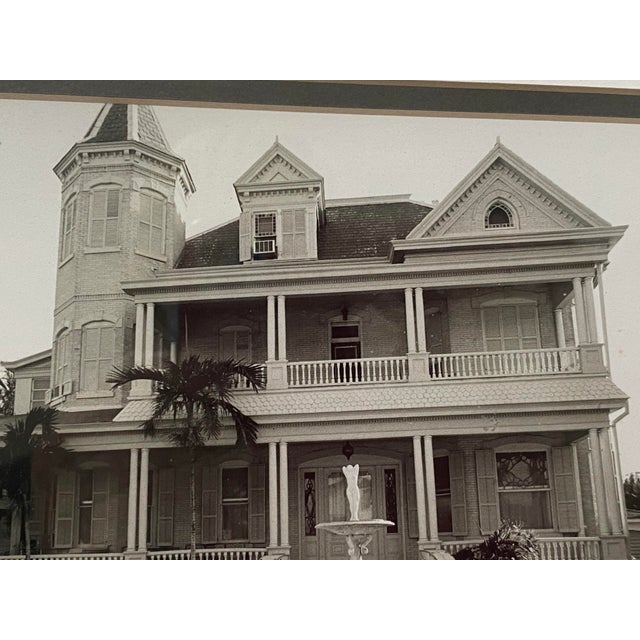 Mid 20th Century Mid-Century Photograph of Key West's Southernmost House in America For Sale - Image 5 of 9