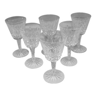 Waterford White Wine Glasses - Set of 6 For Sale