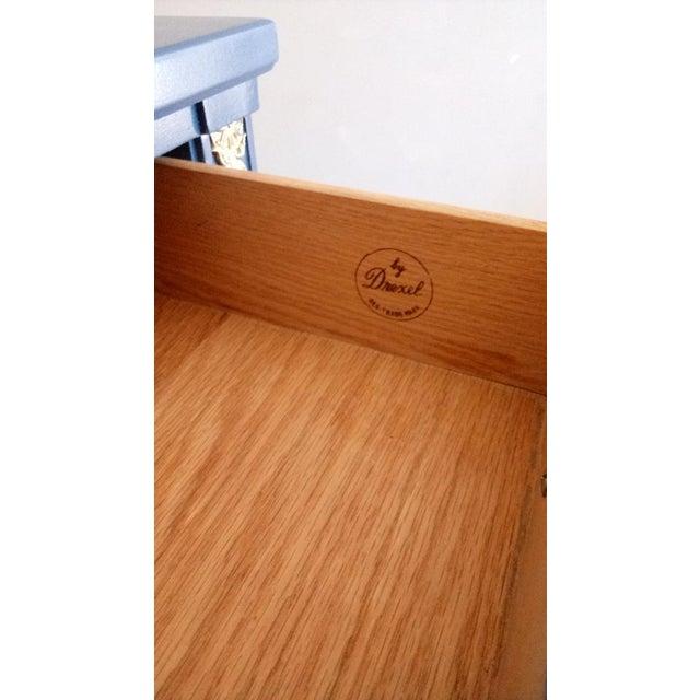 Drexel San Remo High Gloss Blue Nine Drawer Dresser Credenza For Sale - Image 5 of 7