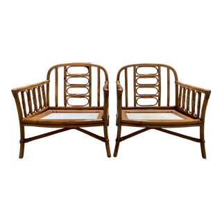 Vintage Loungers by Ficks Reed - a Pair For Sale