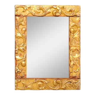 Italian Giltwood Carved Mirror from 19th Century Italian Fragments For Sale