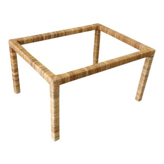 Island Style Rattan Wrapped Coffee Table For Sale